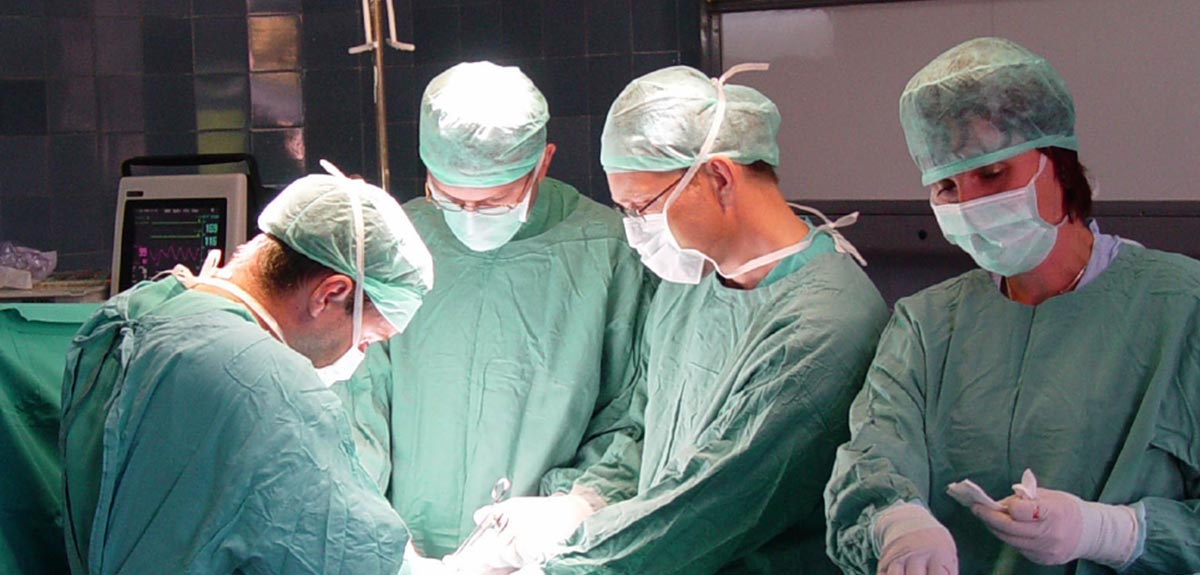 photo of surgeons operating